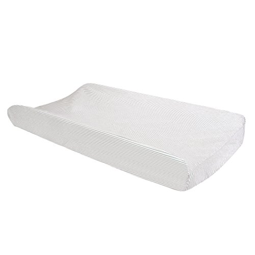Trend Lab Dove Gray Stripe Changing Pad Cover