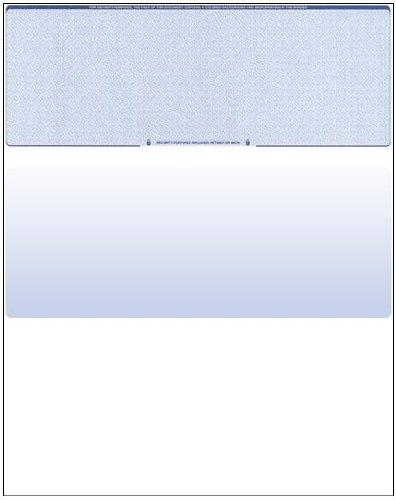 Blank check paper