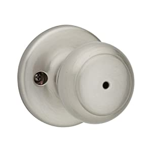 kwikset cove bed bath knob in satin nickel satin nickel bedroom door