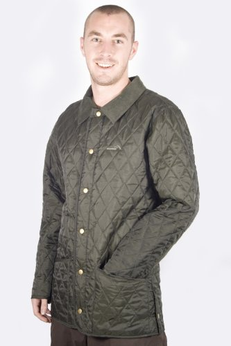 Men's Finn Quilted Jacket - Colour Khaki Size XX-Large