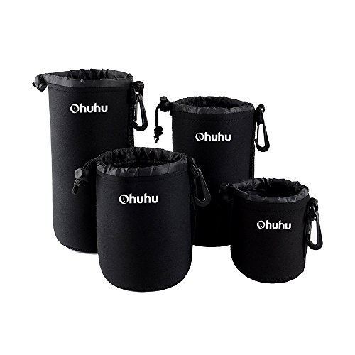 ohuhur-4-lot-camera-lens-bags-neoprene-laptop-sleeve-neoprene-neoprene-lens-case-soft-neoprene-lens-