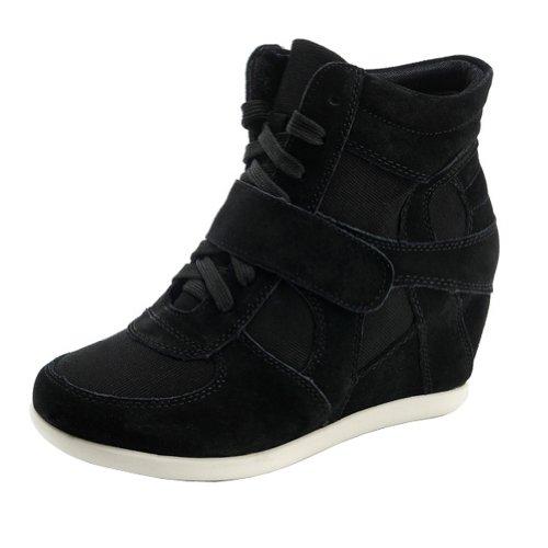 generic-mujer-clasico-cuna-tela-negro-ante-moda-zapatilla-de-deporte-8522-eu38