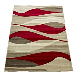Sincerity Modern Red Rug Rug Size: 120 cm x 170 cm (3.94 ft x 5.58 ft) by Flair Rugs