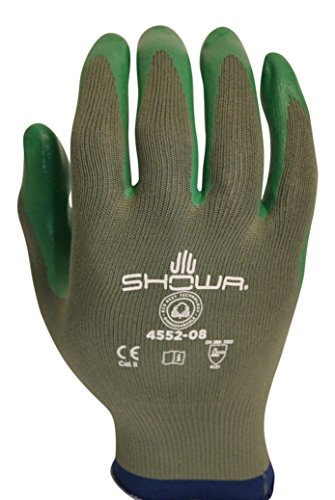 Atlas Showa Best 4552 Biodegradable Nitrle Gloves Size Medium Pack of 4 Made in USA