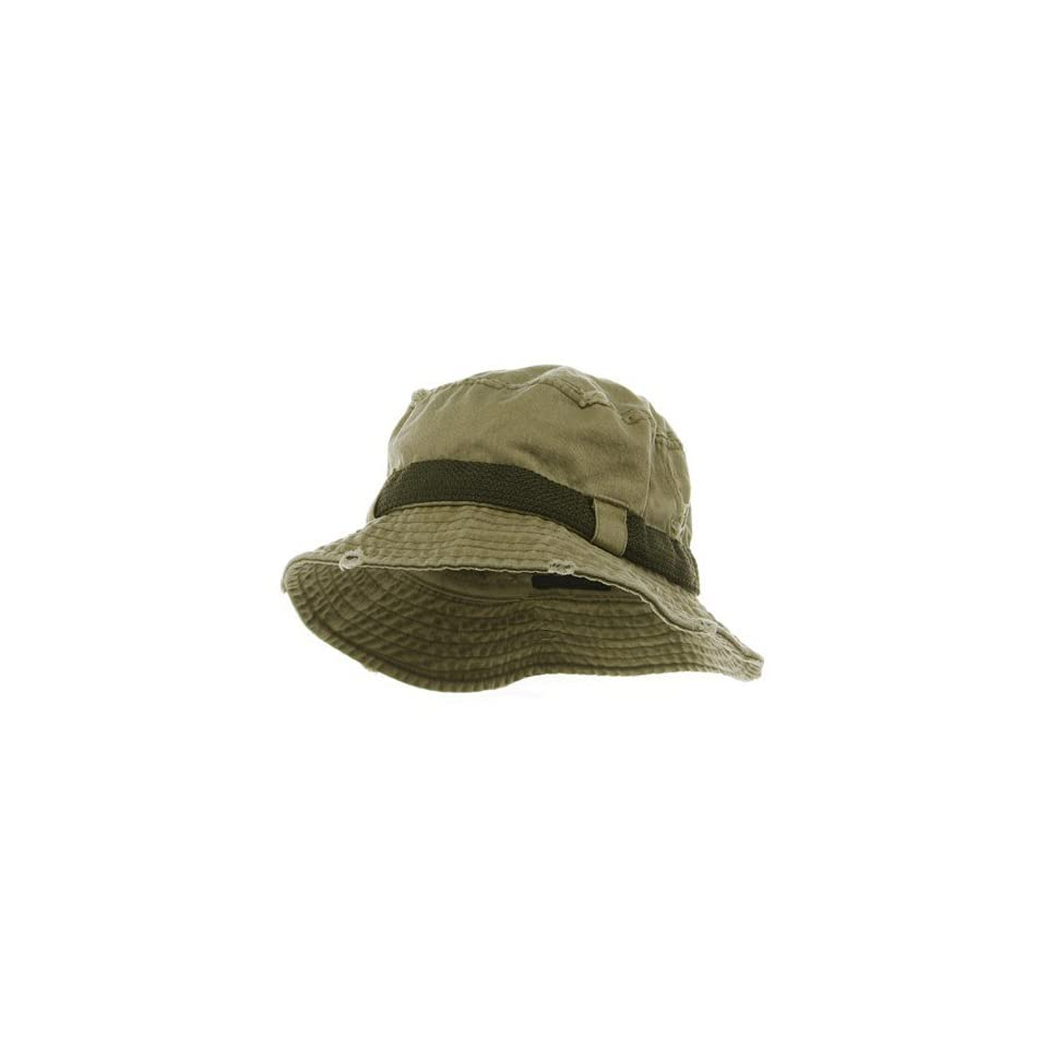 89524e616f5 Frayed Cotton Twill Washed Bucket Hat Khaki W12S38F on PopScreen