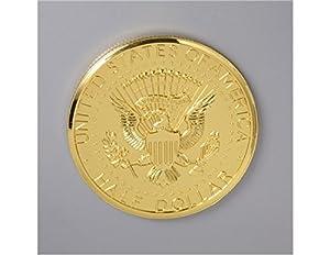 Magic Trick Jumbo Kennedy Coin Half Dollar (Gold)