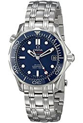Omega Men's O21230362003001 Analog Display Automatic Self Wind Silver Watch