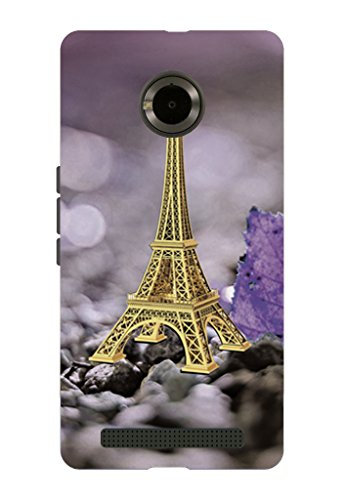 Kaira brand Designer Back Case Cover for Micromax YU Yuphoria (Eiffel Tower)