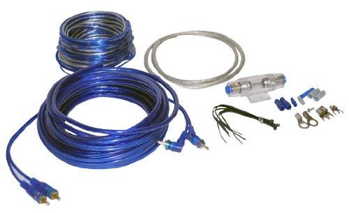 Lanzar AMPKIT8 Contaq 1200 Watt 8 Gauge Power Amp Kit