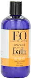 EO Bubble Bath Rose Geranium   Citrus 12-Ounce Bottles Pack of 3