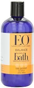 EO Bubble Bath, Rose Geranium & Citrus, 12-Ounce Bottles (Pack of 3)
