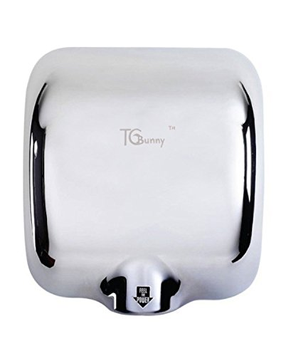 TCBunny® (1 Pack) Heavy Duty 1800 Watts High Speed 90m/s Automatic Hot Commercial Hand Dryer - Stainless Stee