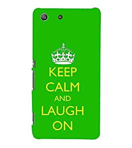 99Sublimation Good Quote on laugh 3D Hard Polycarbonate Back Case Cover for Sony Xperia M5 Dual :: E5633 :: E5643 :: E5663