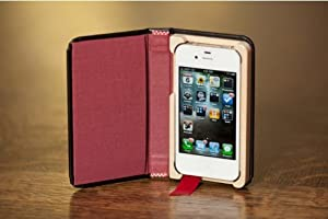 Pad and Quill The Little Black Book iPhone 4 Case and iPhone 4S Case Cranberry Red Interior