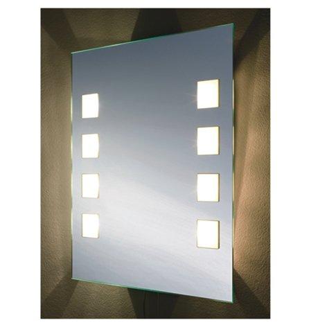Badspiegel BELEUCHTET Wandspiegel BELEUCHTUNG Spiegel LICHT Badwandspiegel aus Kristall YJ-1208