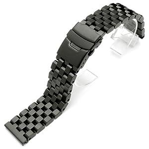 23mm Super Engineer II Solid Stainless Steel Watch Bracelet in PVD Black
