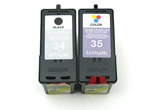 Genuine Lexmark 34 35 High Yield Ink cartridge 2 Pack in Bulk Packing for Lexmark P915 P4350 P6250 X2500 X2550 X3350 X3550 X4550 X5070 X5075 X5270 X5340 X5495 X7170 X7350 X8350 Z845 Z1300 Printer