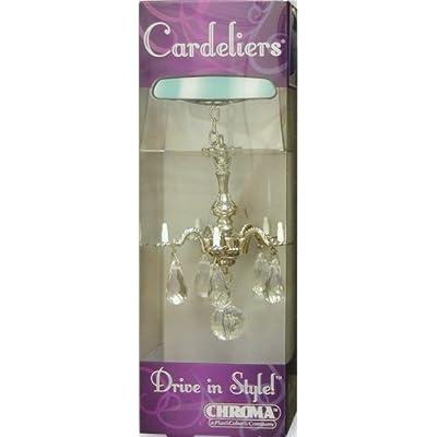 Decorative Mini Chandelier w/ Crystals Rear View Mirror Ornament Auto