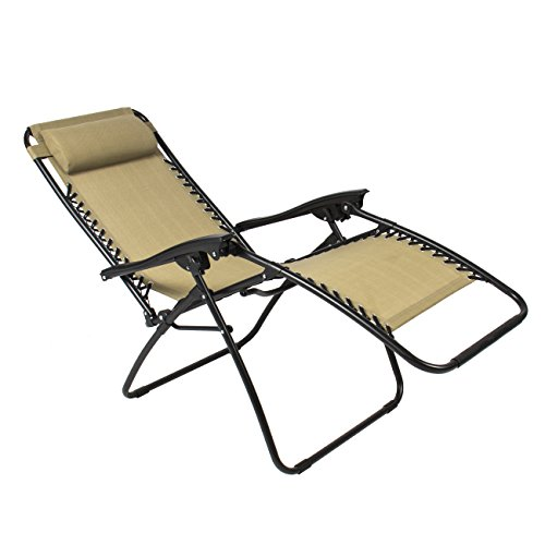 Best ChoiceProducts Zero Gravity Chairs Tan Lounge Patio Chairs Outdoor Yard