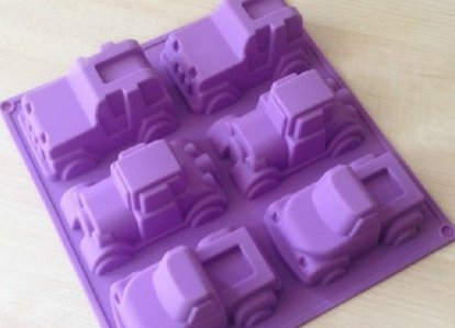 6 Truck Jeep Car Shape Silicone Cake Baking Mold Cake Pan Muffin Cups Handmade Soap Moulds Biscuit Chocolate Ice Cube Tray DIY Mold (Cars 2 Cake Pan compare prices)
