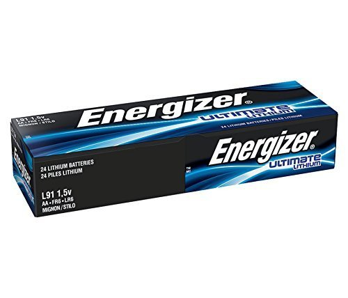 AA Energizer Ultimate Lithium L91 1.5V 24 Batteries