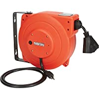 Ironton 40-Feet 12/3 Retractable Cord Reel with Triple Tap