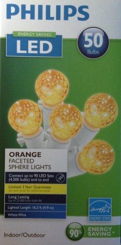 Phillips Indoor/Outdoor Lights - Orange Faceted
