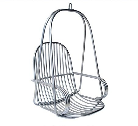 Kaushalendra Swing Hanging Stainless Steel Hammock Chair With Accessory (Silver)