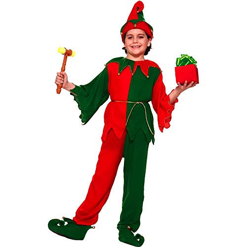 Santa's Elf Costume, Child Large, Large One Color