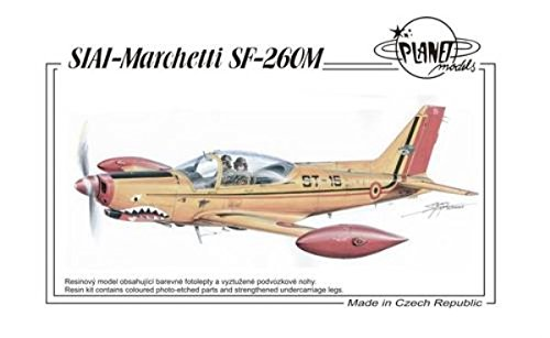 SIAI-Marchetti SF-260. Maquette entièrement en résine d'un avion d'entraînement. La maquette contient des pièces photodécoupées