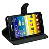 LE BLACK High Quality Leather Case for Samsung Galaxy Note i9220 GT-N7000 Book Type