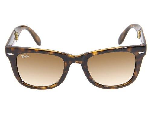 bf72f2af24 Ray Ban RB4105 Folding Wayfarer 710 51 Havana Crystal Brown Gradient 50mm  Sunglasses