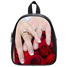 buy Wedding Day Couple Hands Rings Roses Backpack Kid'S School Bag Small