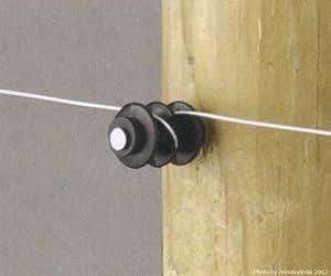 電気牧柵器用 木杭用 豆ガイシ(50個)