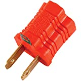 GE 14404 Polarized Grounding Adapter, Orange, 2-Pack