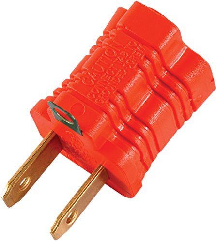 GE 14404 Polarized Grounding Adapter, Orange, 2-Pack (2 Prong Polarized Plug compare prices)