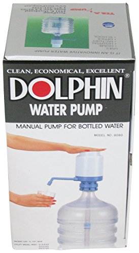 Water Bottle Pump - The Original Dolphin Manual Drinking Water Pump - Fits Most 5-6 Gallon Water Coolers [Excluding Glass]