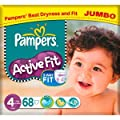 Pampers Active Fit Size 4 (7-18kg) Jumbo Pack 68 per pack