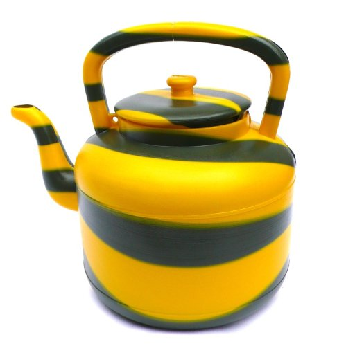 Image of African Plastic Kettle - Yellow and Grey