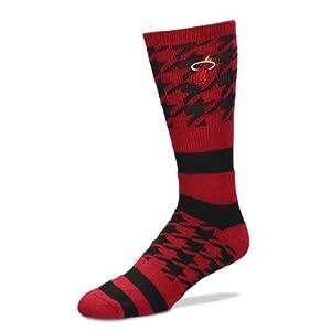NBA Houndstripe Miami Heat Crew Socks by FBF