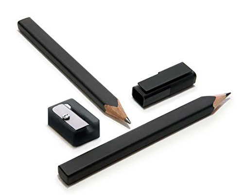 Moleskine  Set of 2 Black Pencils and Sharpener, Black, Large Point (3.0 MM), Black Lead (Writing Collection) PDF