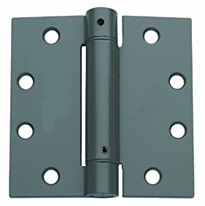 Global Door Controls 4.5 in. x 5 in. US Prime Full Mortise Steel Spring Hinge - Set of 2