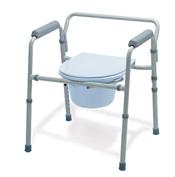 Medline Folding Steel 3-in-1 Commode