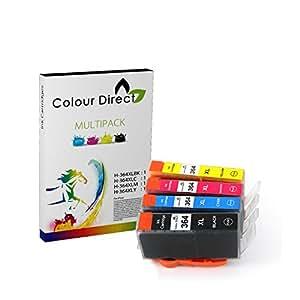 4X 364XL ColourDirect Cartouche D'encres Pour HP Photosmart 5510, 5511, 5512, 5514, 5515, 5520, 5522, 5524, 6510, 6512, 6515, 6520, 7515, B010a, B109a, B109d, B109f, B109n, B110a, B110c, B110e, HP Photosmart Plus B209a, B209c, B210a, B210c, B210d, HP deskjet 3070A, 3520, 3522, 3524, officejet 4610, 4620 Haute Capacité