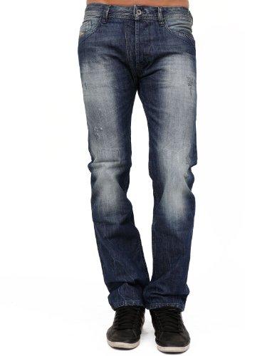Diesel Mennit 8b9 Between Straight And Slim Blue Man Jeans Men - W29l32
