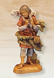 Fontanini 5&quot; Shepherd Gabriel with Lamb Christmas Nativity Figurine #72551