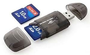 Lecteur de Carte SD MiniSD MMC T-Flash....+ Clé USB 2.0 (Carte SD et adaptateur de carte non fournis)