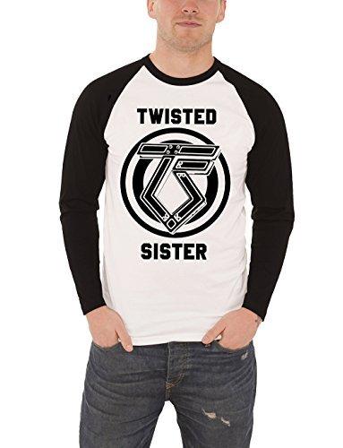 Twisted Sister Logo ufficiale uomo Nue bianco Baseball T-Shirt