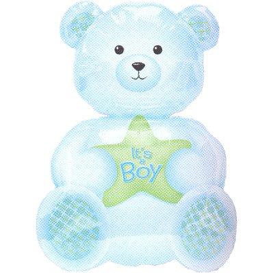 "Anagram International It's A Boy Bear Shape, 24"", Multicolor - 1"