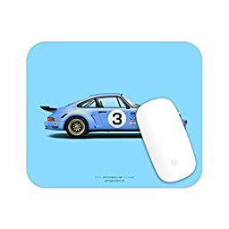 GarageProject101 1974 Porsche 911 RSR (Blue) illustration Mouse Pad